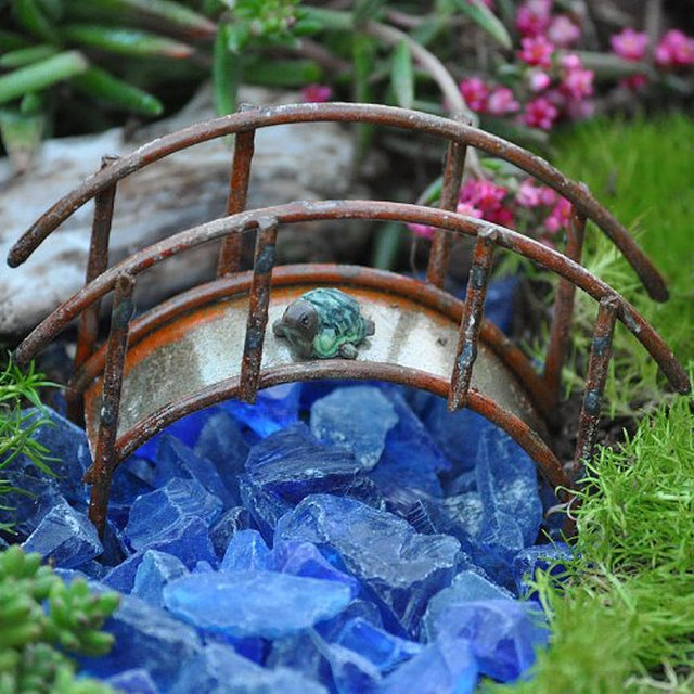 Miniature-Fairy-Garden-Mini-Bridge-Rustic