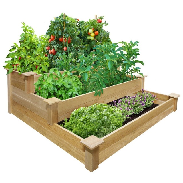 Tiered Cedar Raised Garden Bed