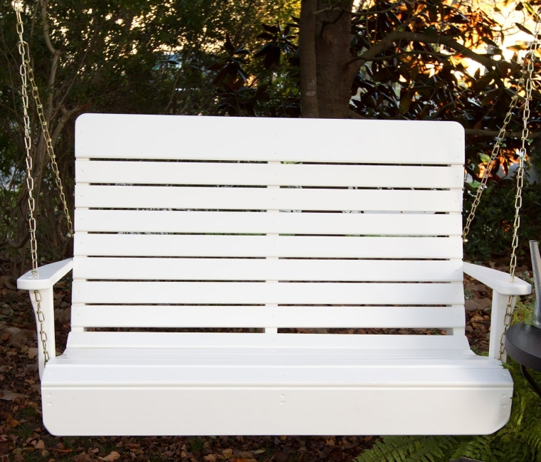Porchgate Amish Made High Back White Porch Swing Fresh