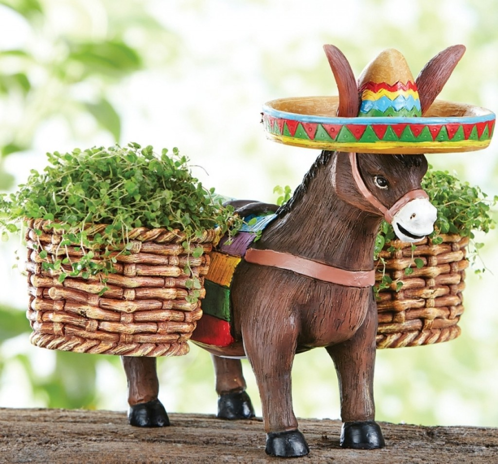 Donkey Figurine Garden Planter Fresh Garden Decor