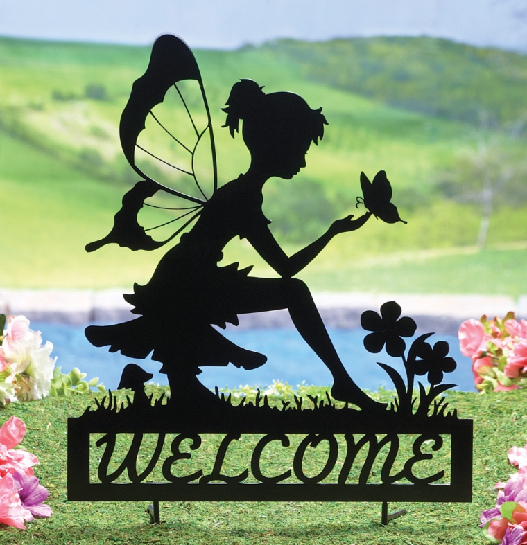 Fairy Welcome Garden Shadow Stake Fresh Garden Decor