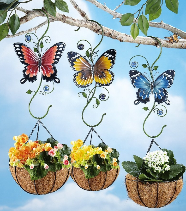 Outdoor Butterfly Plant Hanger Hooks