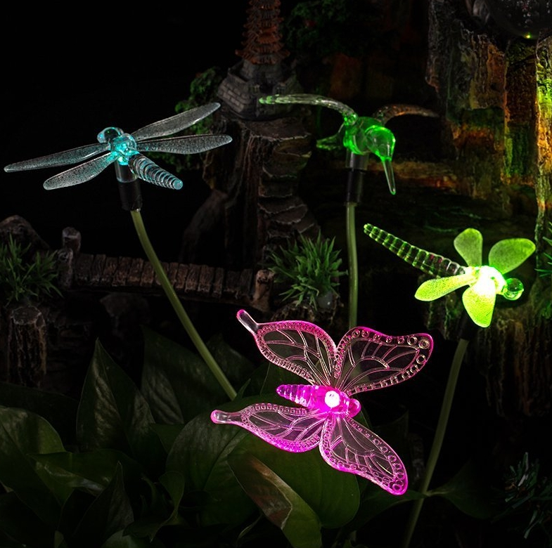 Solar Powered Color Changing Outdoor Stake Lights