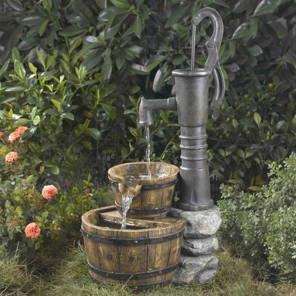 Water pump water fountain fresh garden decor for Garden water pump