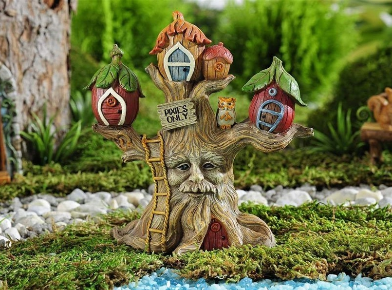 Gnome Garden: Fairy Garden 5.5″ Enchanted Forest Pixie Tree House