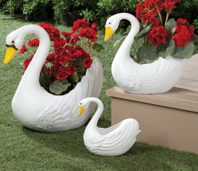 Swan Planters Set Of 3 Xl Fresh Garden Decor