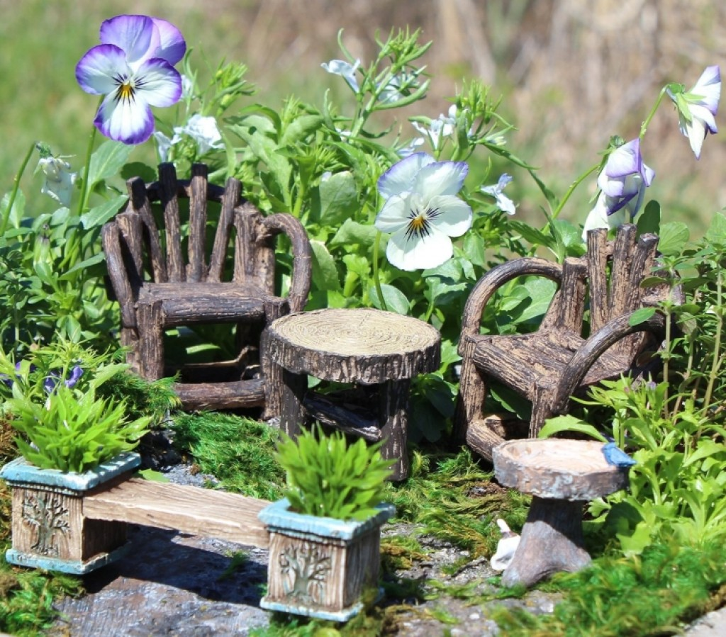 Fairy Garden Resin Furniture Set Fresh Garden Decor