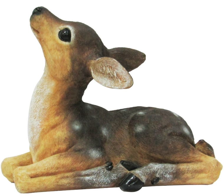 Baby Fawn Lying Outdoor Statue