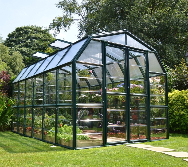 Clear Greenhouse Fresh Garden Decor