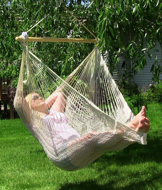 Extra Large Natural Colored Mayan Chair Hammock