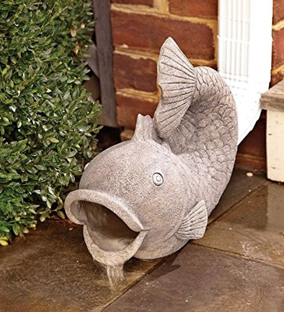 Fish Decorative Garden Down Spout Fresh Garden Decor