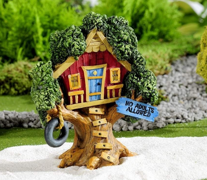 Mini Kids At Play Tree House Outdoor Fresh Garden Decor