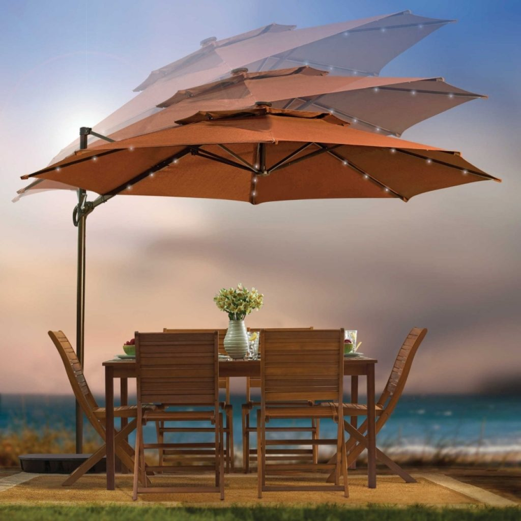 Turtle Planter Outdoor Patio Cantilever Umbrella Fresh Garden Decor