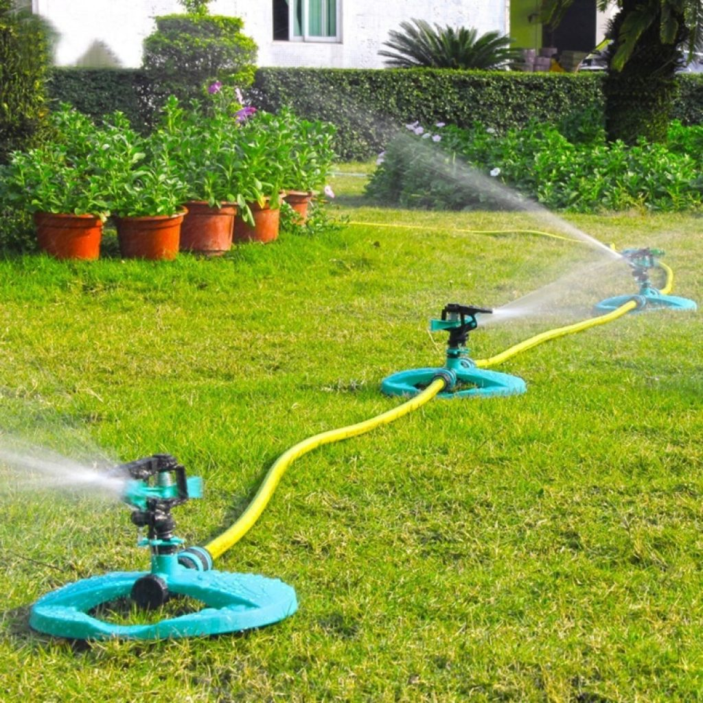 Water sprinkler system impulse long range sprinklers for Home garden irrigation design