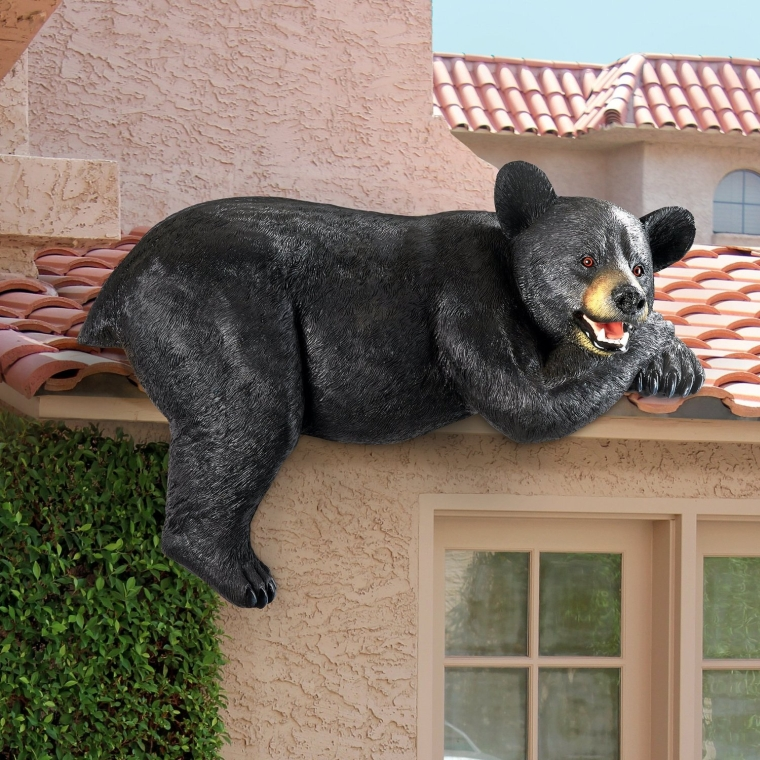 The Loveable Lounger Black Bear Statue