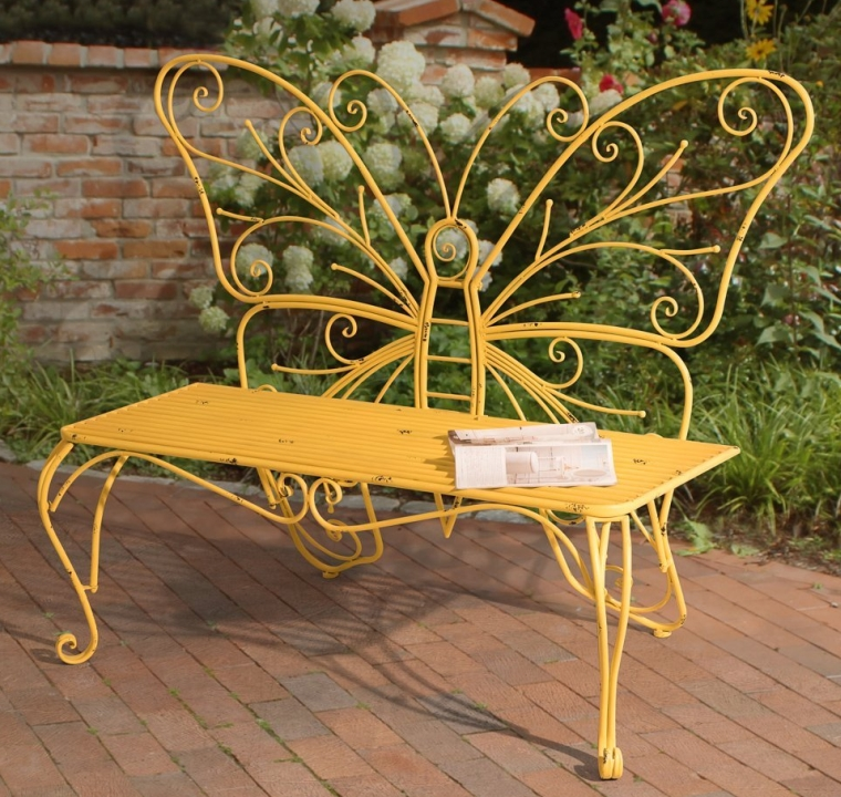 Butterfly Bench Made of Iron