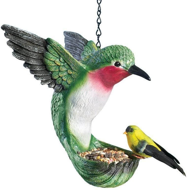 Hummingbird bird feeder fresh garden decor for Hummingbird decor