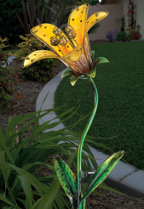 regal art and gift solar tiger lily stake fresh garden decor regal art and gift 10545 solar stake butterfly home