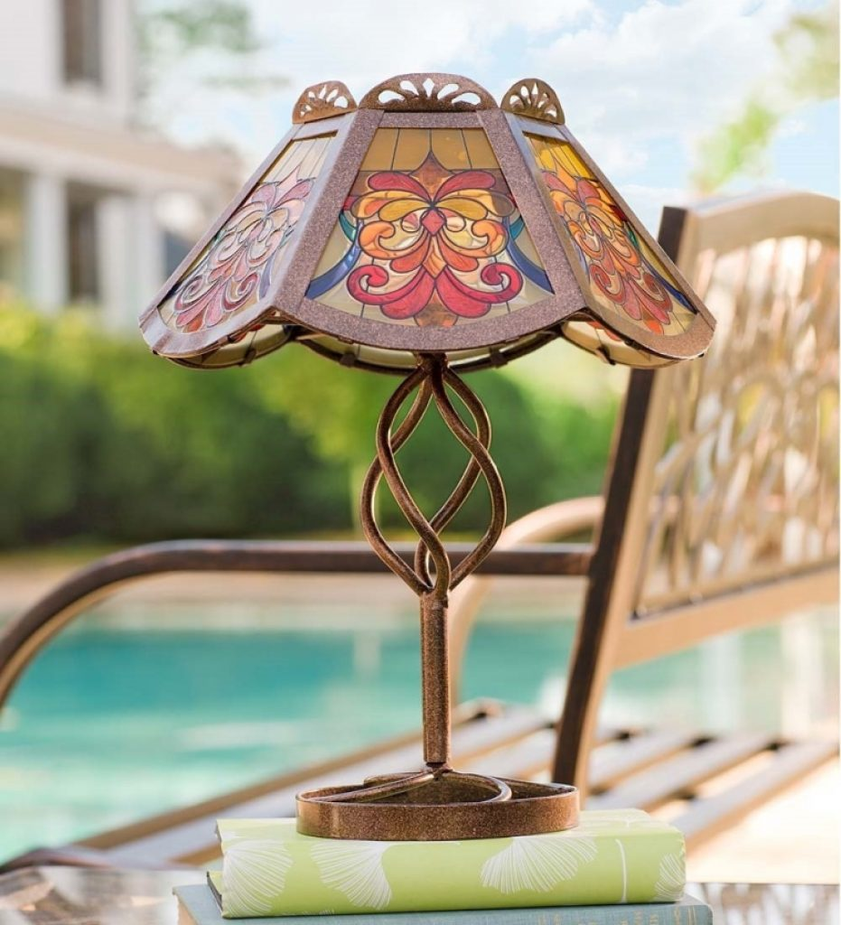 Solar outdoor table lamp fresh garden decor for Outdoor decorative items