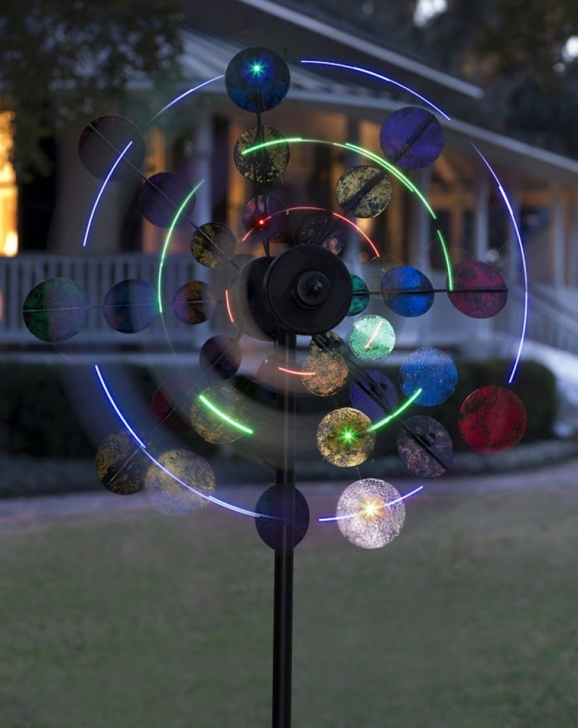 Solar Sparkler Wind Spinner Fresh Garden Decor