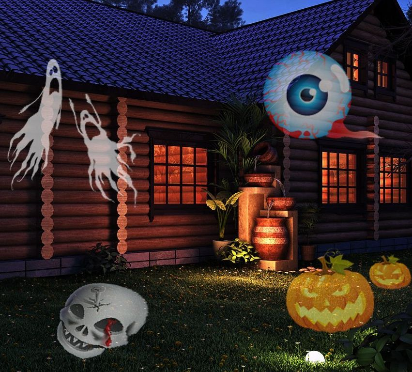 12 Colorful Patterns Night Lamp Halloween Fresh Garden Decor