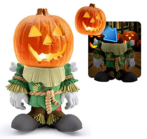 Pumpkin People Scarecrow Statue