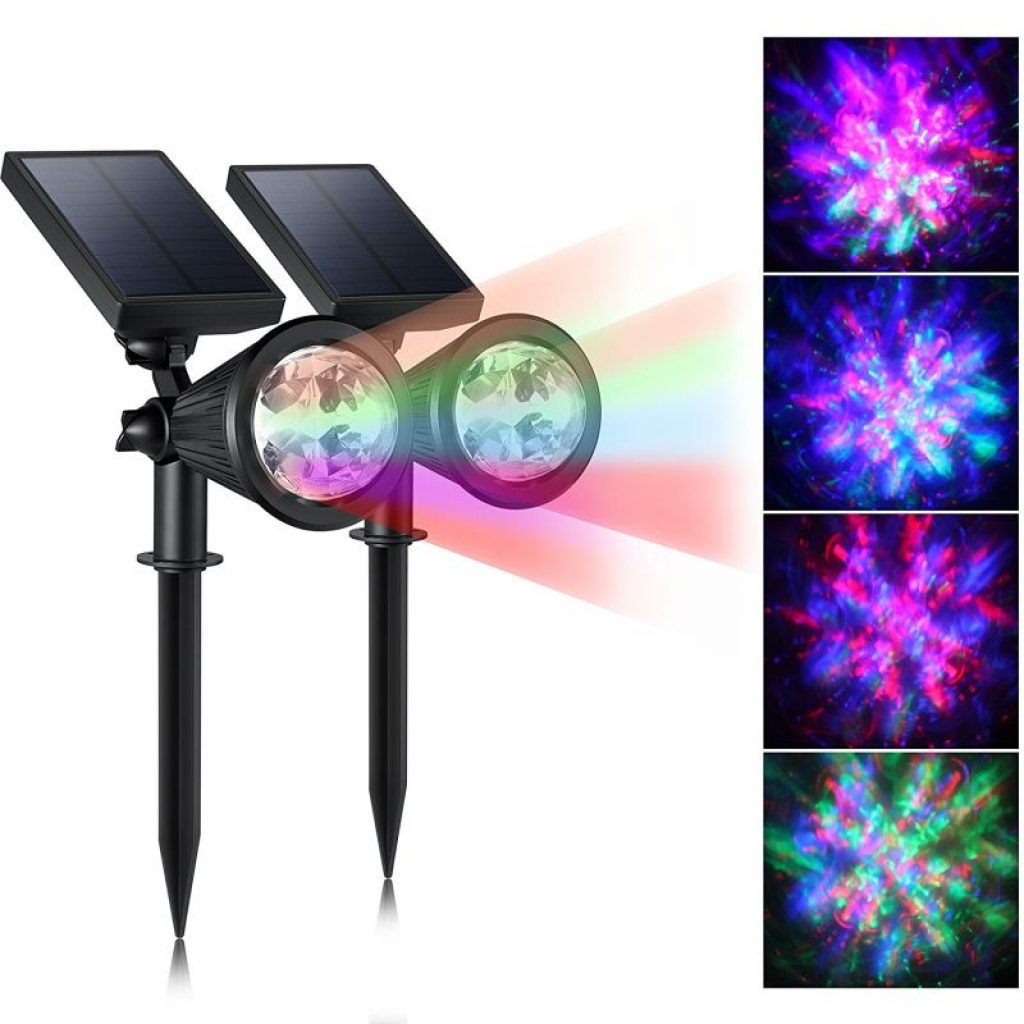 Creative design led outdoor solar spotlight fresh garden for Led outdoor decorations
