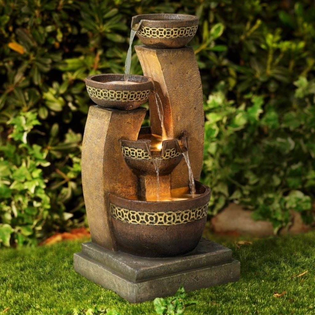 Cascading fountain fresh garden decor for Garden water fountains
