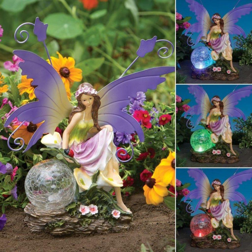 Color changing solar garden fairy fresh garden decor for Solar garden decor