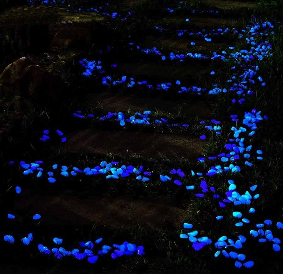Glow in the dark garden pebbles fresh garden decor for Glow in the dark garden pebbles