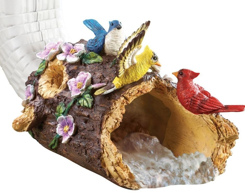 Pretty bird decorative downspout fresh garden decor for Outdoor decorative items