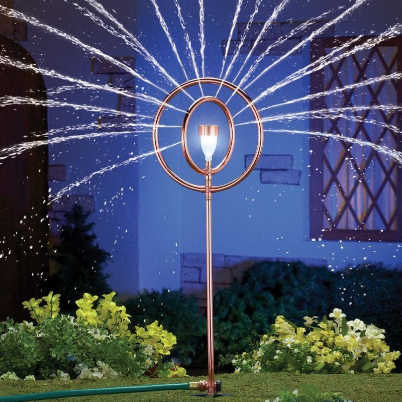 Sprinkler With Solar Lantern Stake