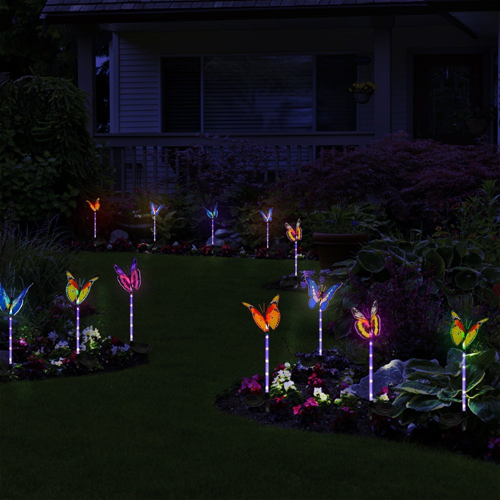 Solar powered lights fresh garden decor for Outdoor decorating with solar lights