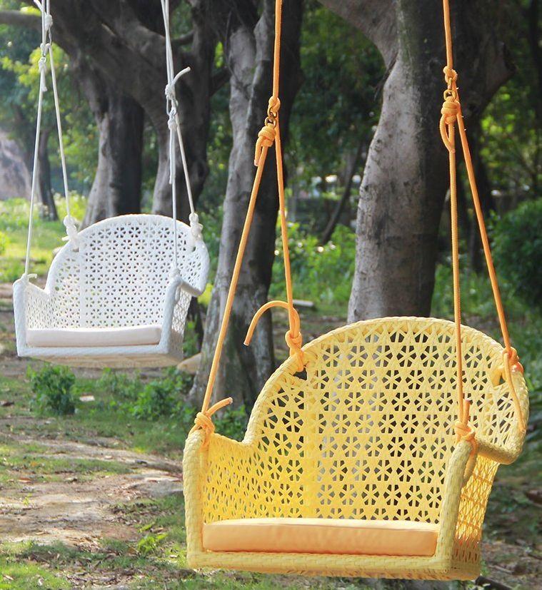 Wicker Porch Swing Chair