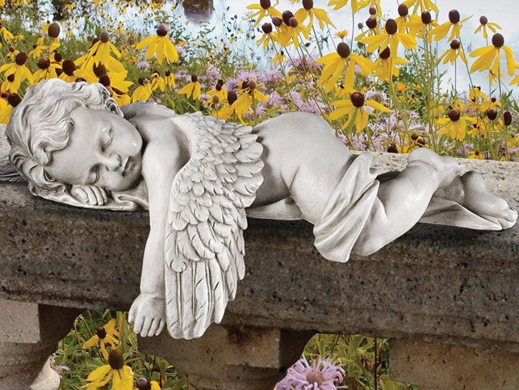 Baby Angel Statue In Stone Fresh Garden Decor