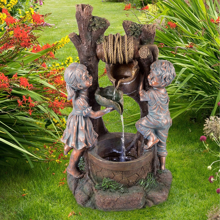 Well Water Fountain Fresh Garden Decor