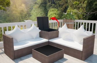 4 Piece Outdoor Garden Sofa Set