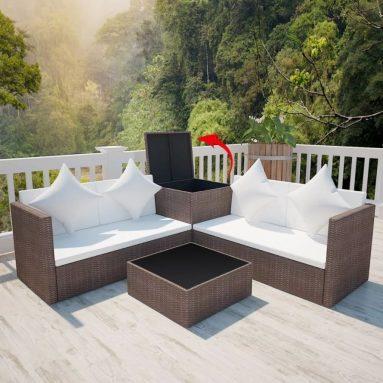 4 Piece Outdoor Garden Sofa Set