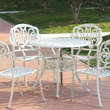 5-Piece Clairne Cast Aluminum Outdoor Dining Set