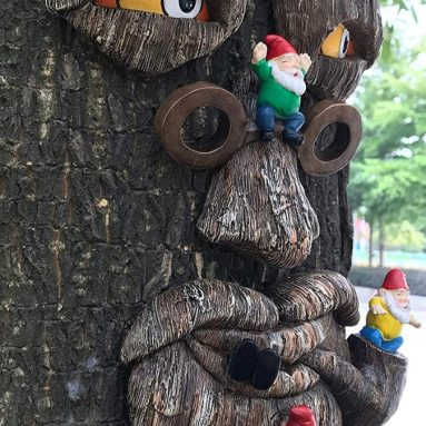 Tree Face Garden Gnome Massacre
