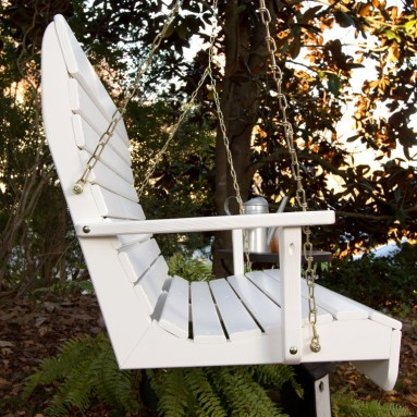 Porchgate Amish Made High Back White Porch Swing