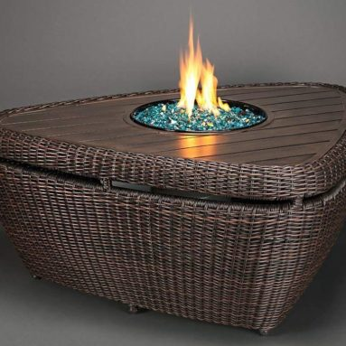 Agio Brisbane Gas Fire Pit with Copper Reflective Fire Glass