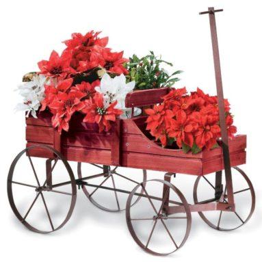 Amish Wagon Decorative Garden Planter
