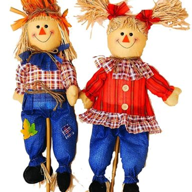Boy and Girl Scarecrow