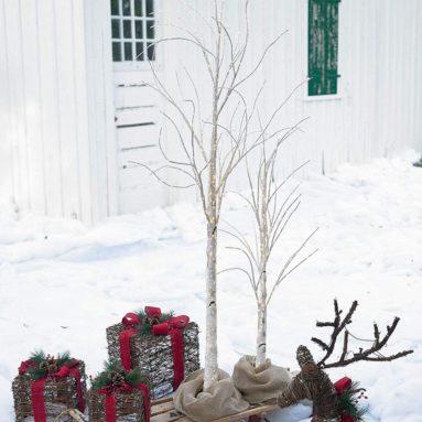 BrylaneHome 6′ Pre-Lit Birch Tree