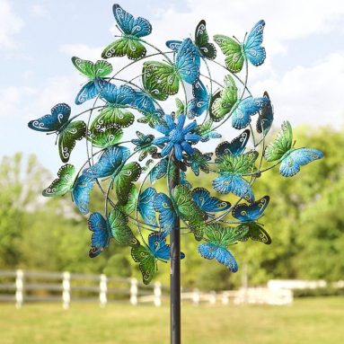 Butterflies Metal Wind Spinner