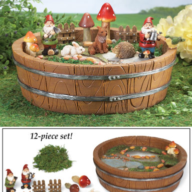 Collectible Mini Gnome Garden Container – 12PC
