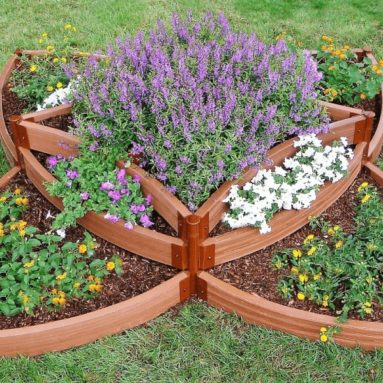 Composite Versailles Sunburst Raised Garden Bed Kit