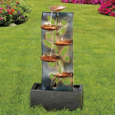 Copper Finish Flower Fountain