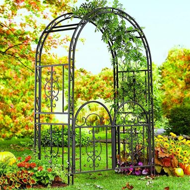 Decorative Garden Arbor Trellis with Gate